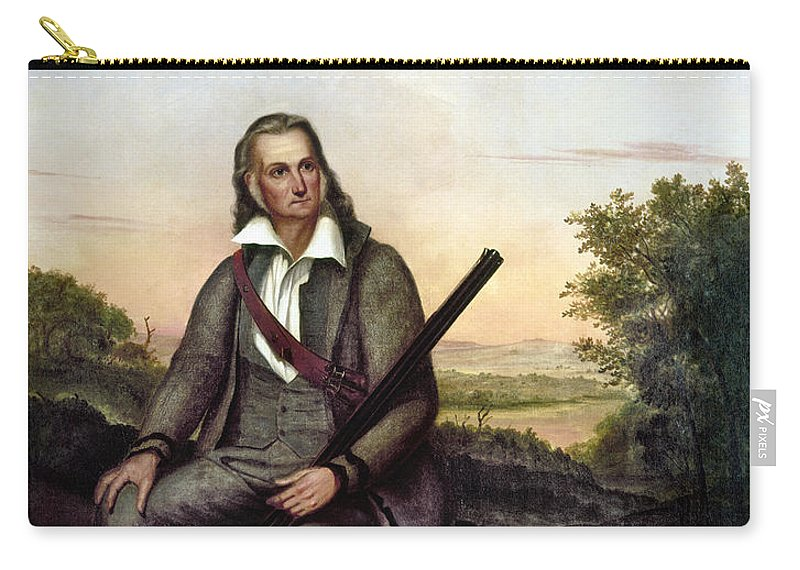 1841 Carry-all Pouch featuring the painting John James Audubon by Granger