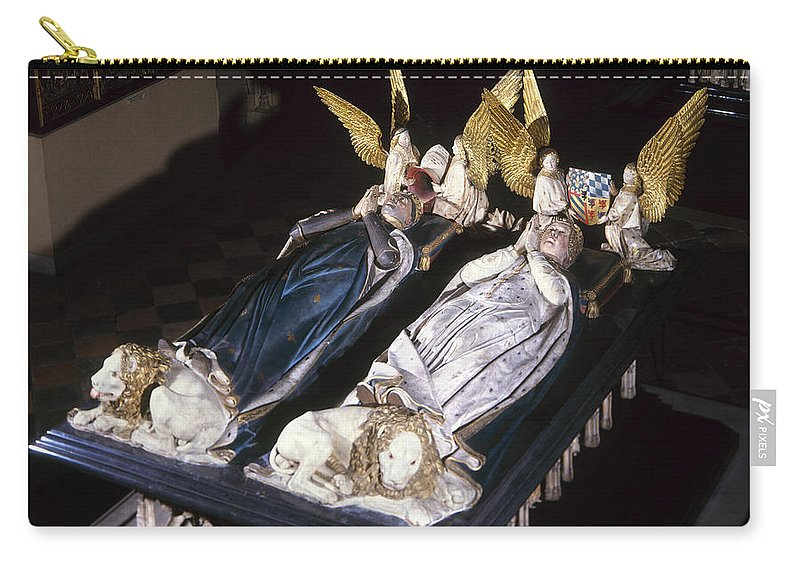 15th Century Carry-all Pouch featuring the painting France: Tomb Of John II by Granger