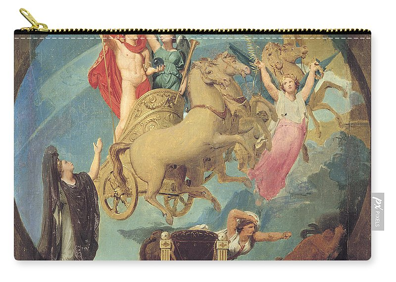 1835 Carry-all Pouch featuring the painting Napoleon I (1769-1821) by Granger