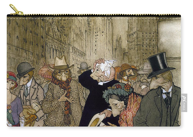 1924 Carry-all Pouch featuring the painting Rackham: City, 1924 by Granger