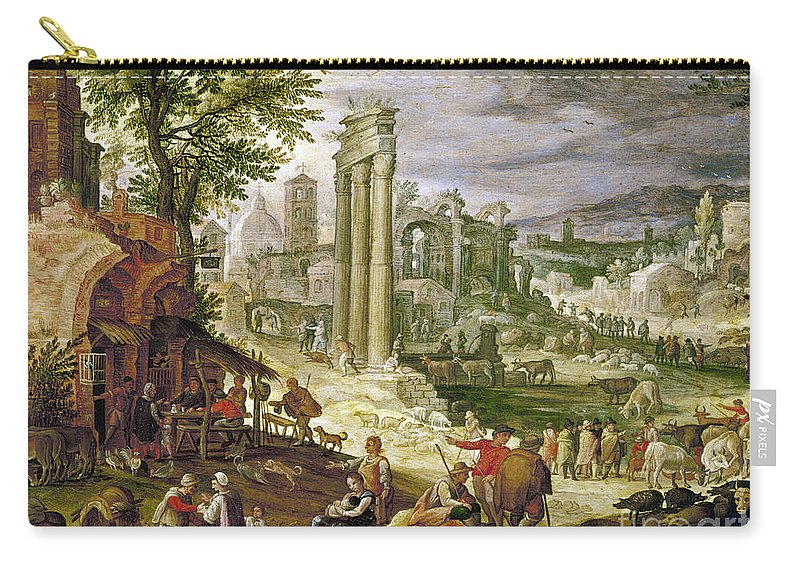 16th Century Carry-all Pouch featuring the painting Roman Forum, 16th Century by Granger