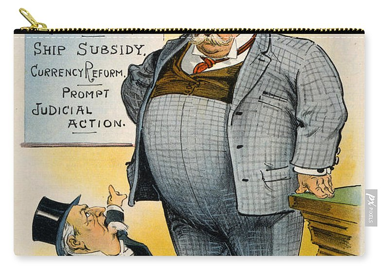 1909 Carry-all Pouch featuring the painting William Howard Taft by Granger