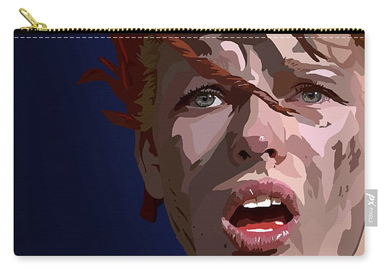 Tamify Carry-all Pouch featuring the painting 023. Everything You Create You Use To Destroy by Tam Hazlewood