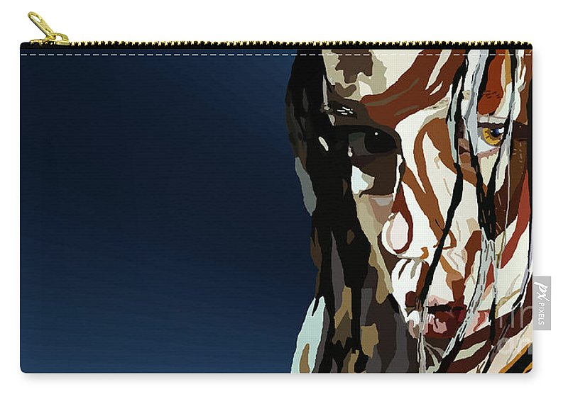 Tamify Carry-all Pouch featuring the painting 028. Bullet In The Brain Pan Squish by Tam Hazlewood