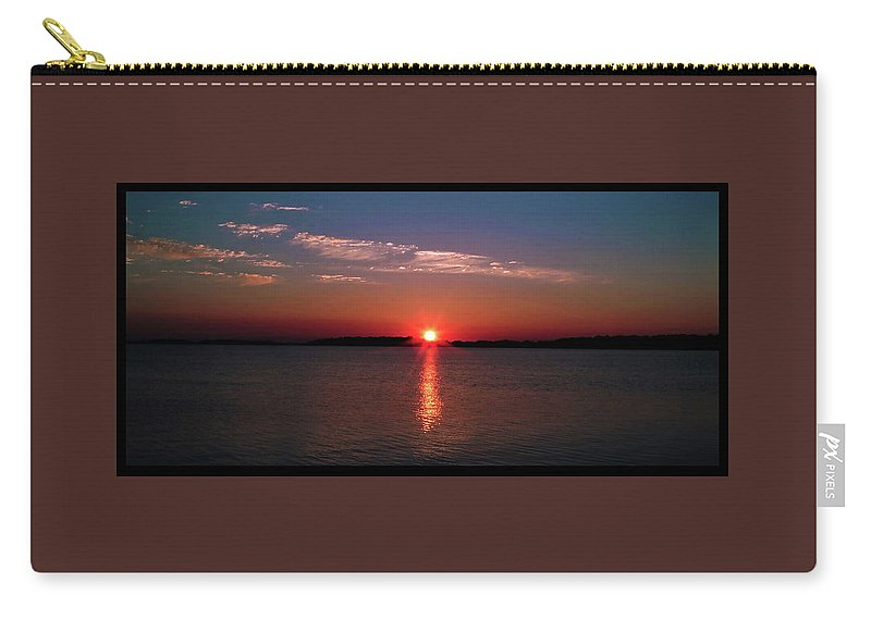 Sunset Carry-all Pouch featuring the photograph 062201-21-a by Mike Davis