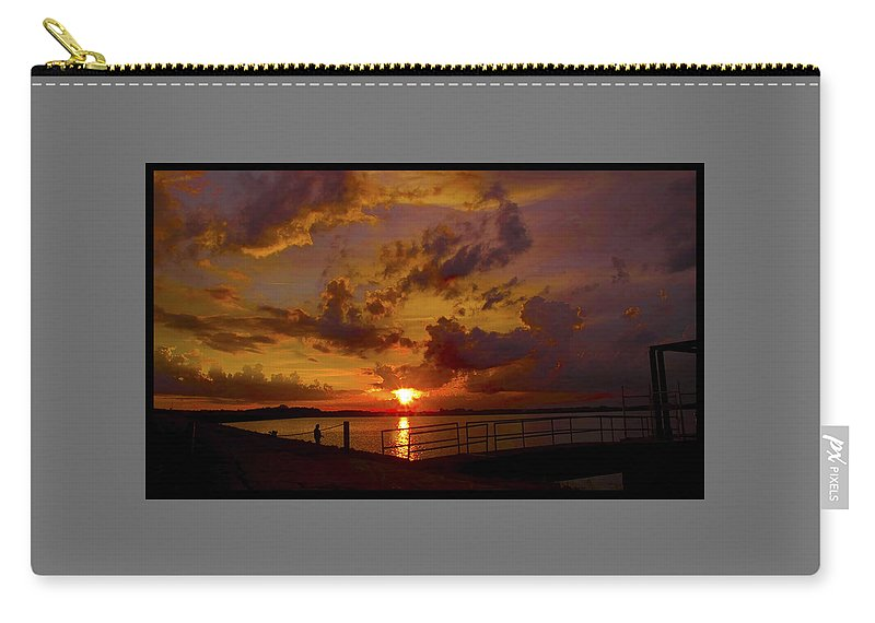 Sunset Carry-all Pouch featuring the photograph 062813-73-a by Mike Davis
