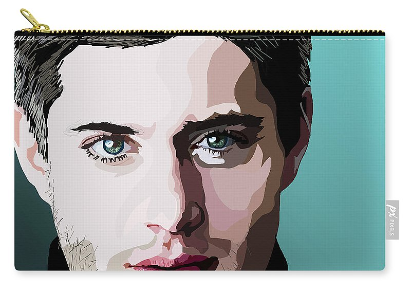 Carry-all Pouch featuring the digital art 076. I Double Dare You by Tam Hazlewood