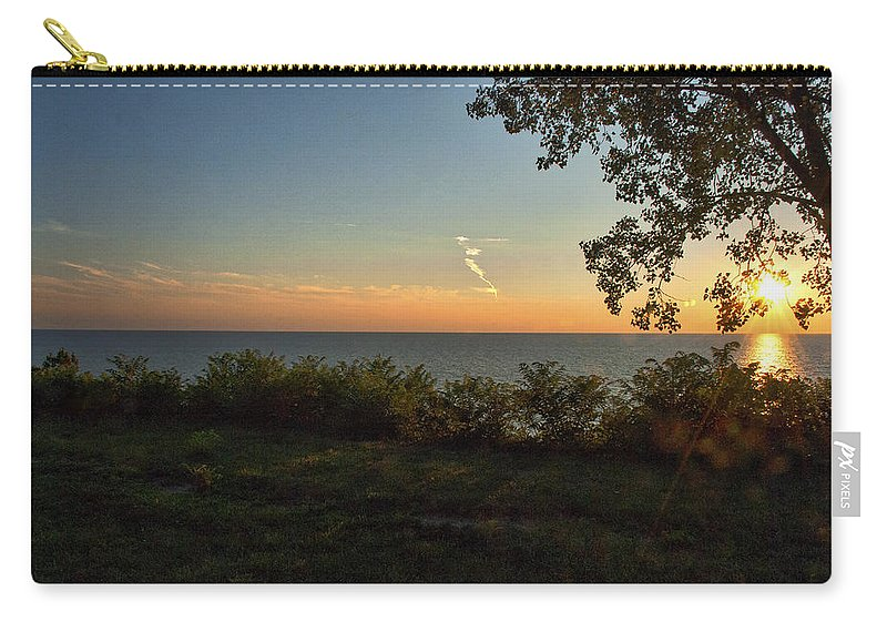 Harbor Country Carry-all Pouch featuring the photograph 0874- Lake Michigan Sunset by David Lange