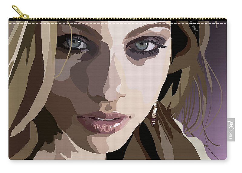 Tamify Carry-all Pouch featuring the digital art 092. I Don't Think I Can Be Good by Tam Hazlewood