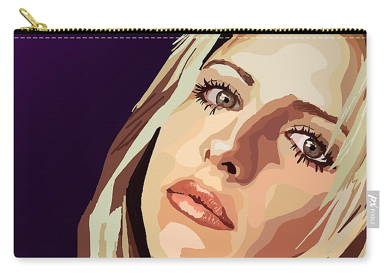 Tamify Carry-all Pouch featuring the digital art 093. I'm A Slayer Ask Me How by Tam Hazlewood