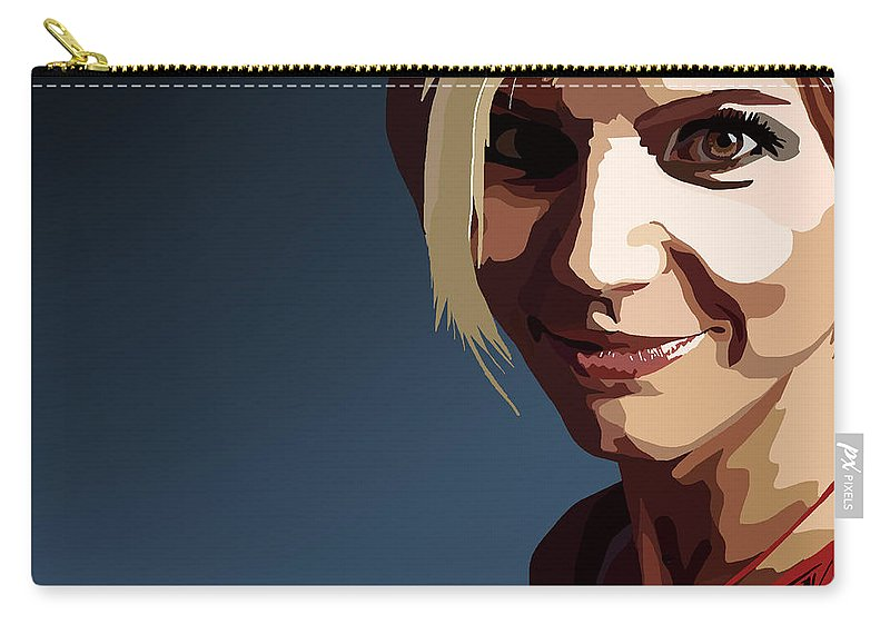 Tamify Carry-all Pouch featuring the painting 094. Oh I'll Kill You Dead by Tam Hazlewood