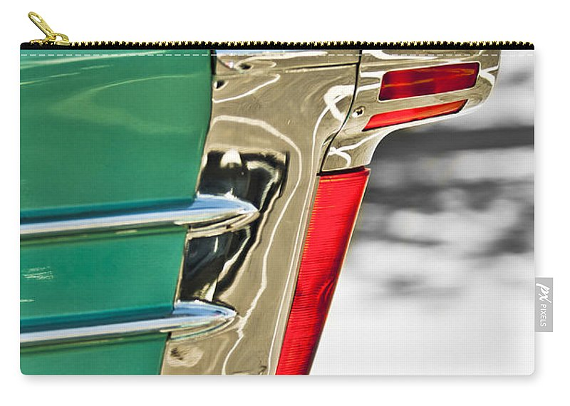 1958 Oldsmobile 98 Carry-all Pouch featuring the photograph 1958 Oldsmobile 98 Taillight by Jill Reger