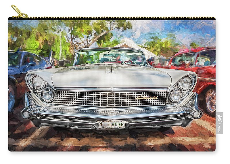1959 Lincoln Carry-all Pouch featuring the photograph 1959 Lincoln Continental Town Car Mk Iv Painted by Rich Franco
