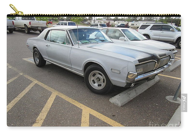 1968 Carry-all Pouch featuring the photograph 1968 Mercury Cougar Xr7 by Frederick Holiday