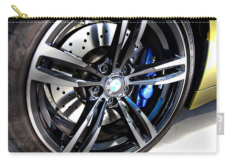 Bmw M4 Carry-all Pouch featuring the photograph 2015 Bmw M4 by Aaron Berg