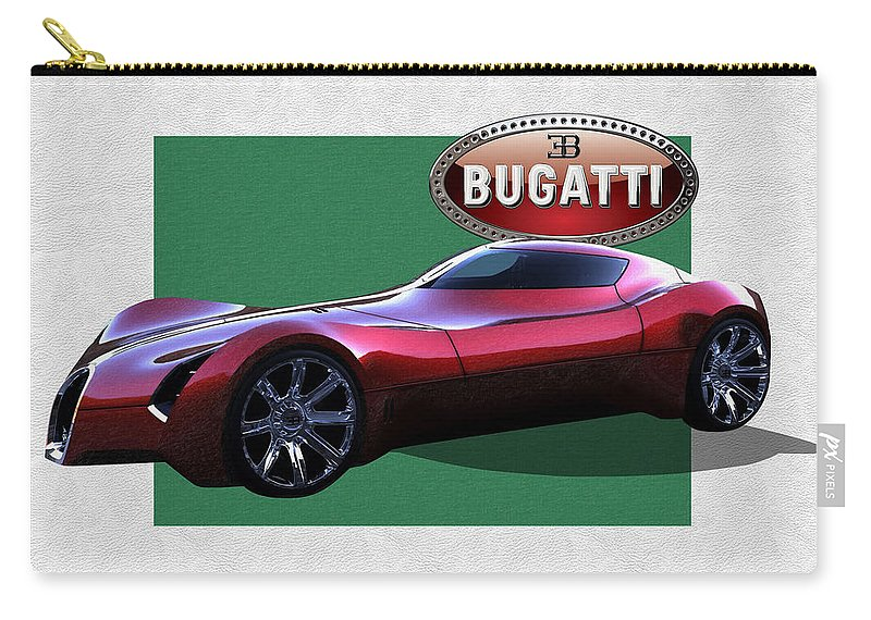 �bugatti� By Serge Averbukh Carry-all Pouch featuring the photograph 2025 Bugatti Aerolithe Concept with 3 D Badge by Serge Averbukh