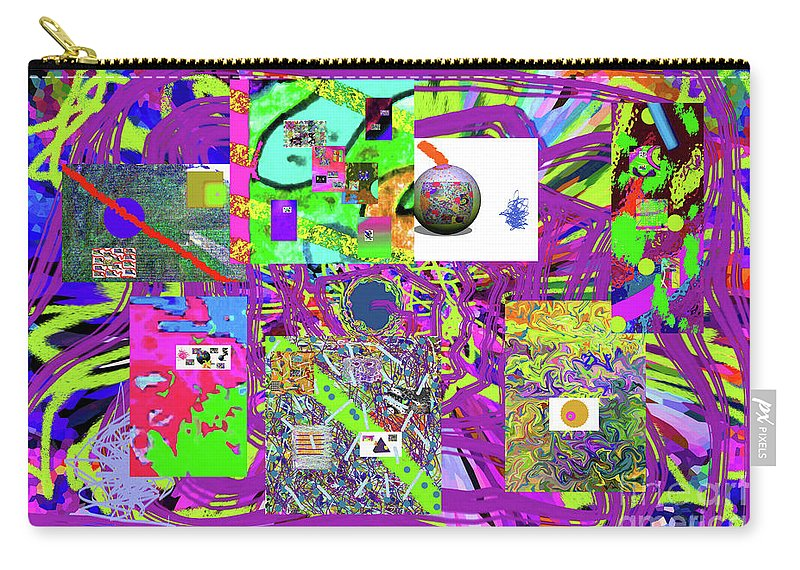 Walter Paul Bebirian Carry-all Pouch featuring the digital art 1-3-2016babcdefghijklmnopqrtuvwxy by Walter Paul Bebirian
