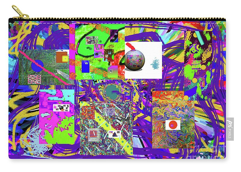 Walter Paul Bebirian Carry-all Pouch featuring the digital art 1-3-2016babcdefghijklmnopqrtuvwxyzab by Walter Paul Bebirian