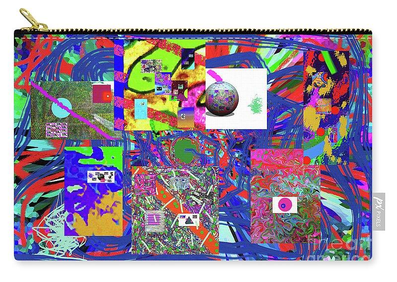 Walter Paul Bebirian Carry-all Pouch featuring the digital art 1-3-2016babcdefghijklmnopqrtuvwxyzabcdefg by Walter Paul Bebirian