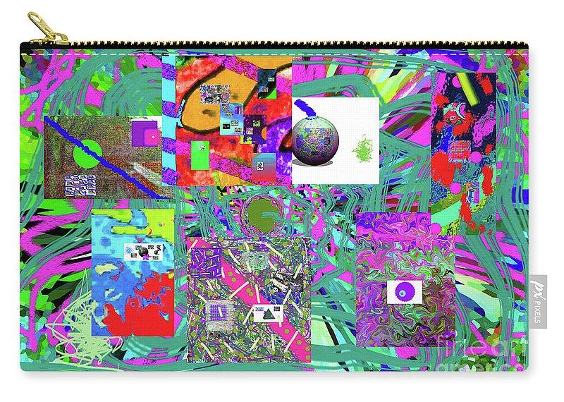 Walter Paul Bebirian Carry-all Pouch featuring the digital art 1-3-2016babcdefghijklmnopqrtuvwxyzabcdefghijkl by Walter Paul Bebirian