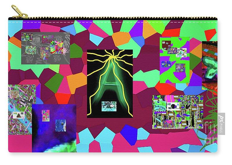 Walter Paul Bebirian Carry-all Pouch featuring the digital art 1-3-2016dabcdefghijkl by Walter Paul Bebirian