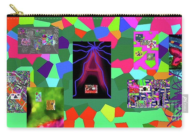 Walter Paul Bebirian Carry-all Pouch featuring the digital art 1-3-2016dabcdefghijklmnopqrtuvwxyzabcde by Walter Paul Bebirian