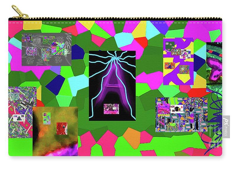 Walter Paul Bebirian Carry-all Pouch featuring the digital art 1-3-2016dabcdefghijklmnopqrtuvwxyzabcdefghi by Walter Paul Bebirian