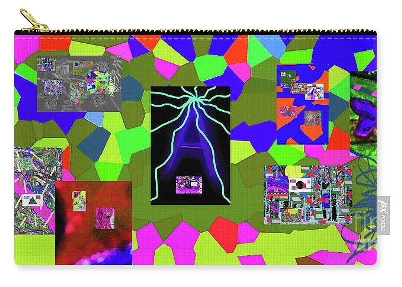 Walter Paul Bebirian Carry-all Pouch featuring the digital art 1-3-2016dabcdefghijklmnopqrtuvwxyzabcdefghijklm by Walter Paul Bebirian