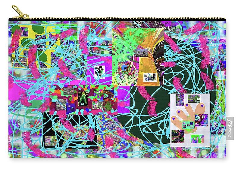 Walter Paul Bebirian Carry-all Pouch featuring the digital art 1-3-2016e by Walter Paul Bebirian
