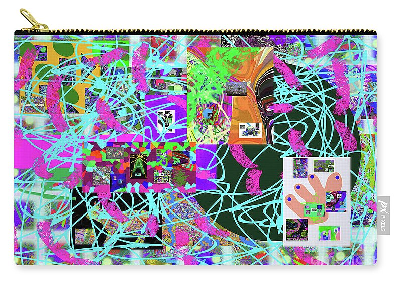Walter Paul Bebirian Carry-all Pouch featuring the digital art 1-3-2016ea by Walter Paul Bebirian