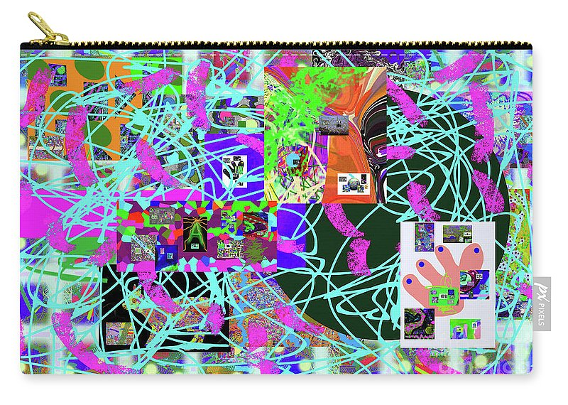 Walter Paul Bebirian Carry-all Pouch featuring the digital art 1-3-2016eab by Walter Paul Bebirian