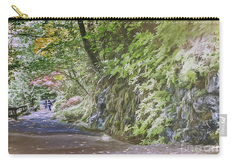 Catholic Carry-all Pouch featuring the photograph Road To Emmaus by Jean OKeeffe Macro Abundance Art