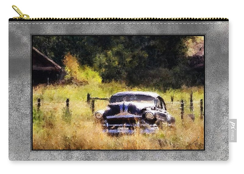 Old Cars Carry-all Pouch featuring the painting 53 Pontiac by Susan Kinney