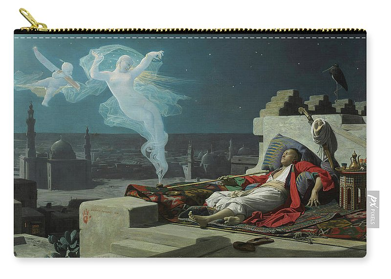 A Eunuch's Dream Carry-all Pouch featuring the painting A Eunuch's Dream by Jean Jules Antoine Lecomte du Nouy