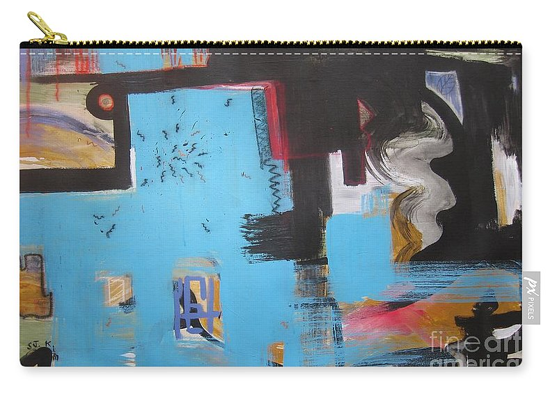 Abstract Carry-all Pouch featuring the painting A False Painting by Seon-Jeong Kim