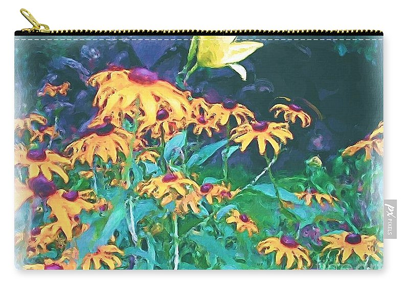 Mixed Media Carry-all Pouch featuring the painting A Lily In The Field by Patricia Griffin Brett