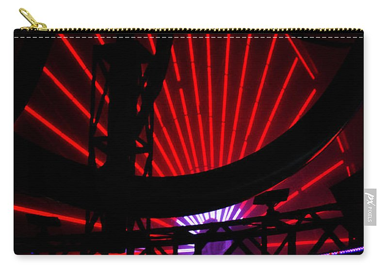Clay Carry-all Pouch featuring the photograph A Night At Santa Monica Pier by Clayton Bruster