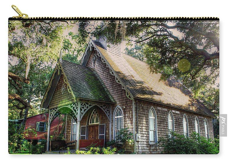 Church Carry-all Pouch featuring the photograph A Small Church by TJ Baccari
