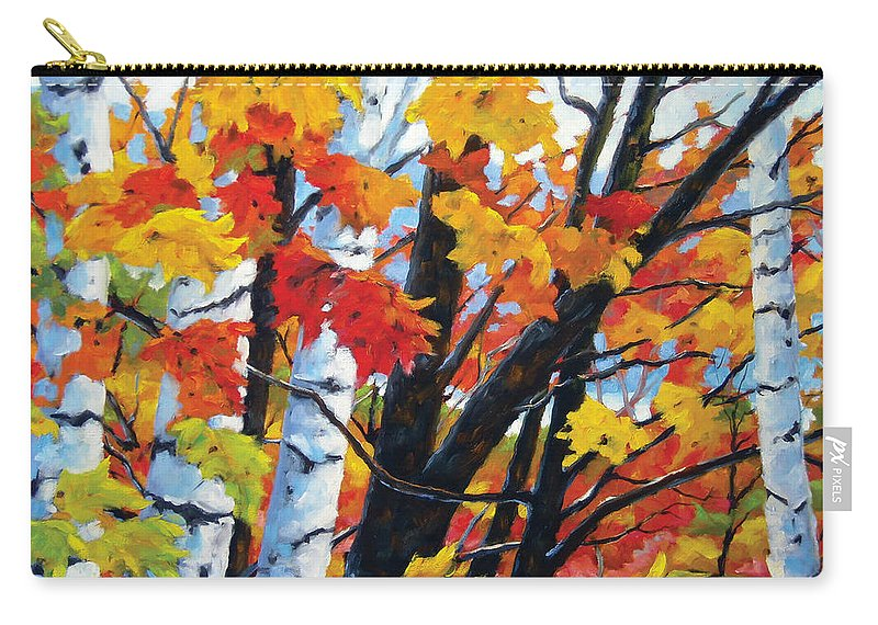 Art Carry-all Pouch featuring the painting A Touch Of Canada by Richard T Pranke