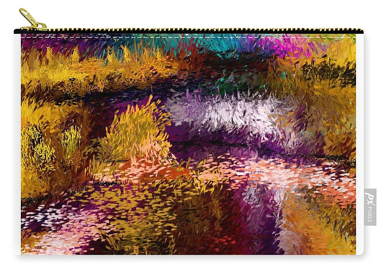 Digital Painting Carry-all Pouch featuring the digital art Aaw2- Evening At The Pond by David Lane