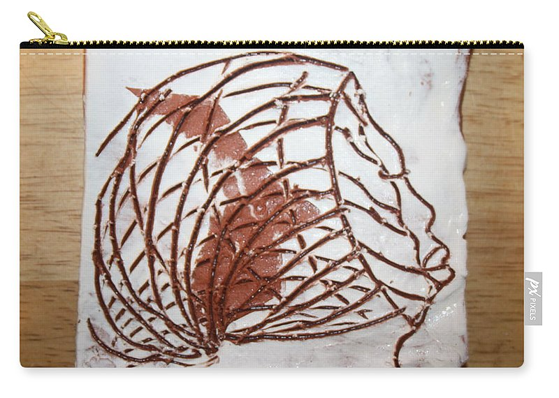 Jesus Carry-all Pouch featuring the ceramic art Abram - Tile by Gloria Ssali