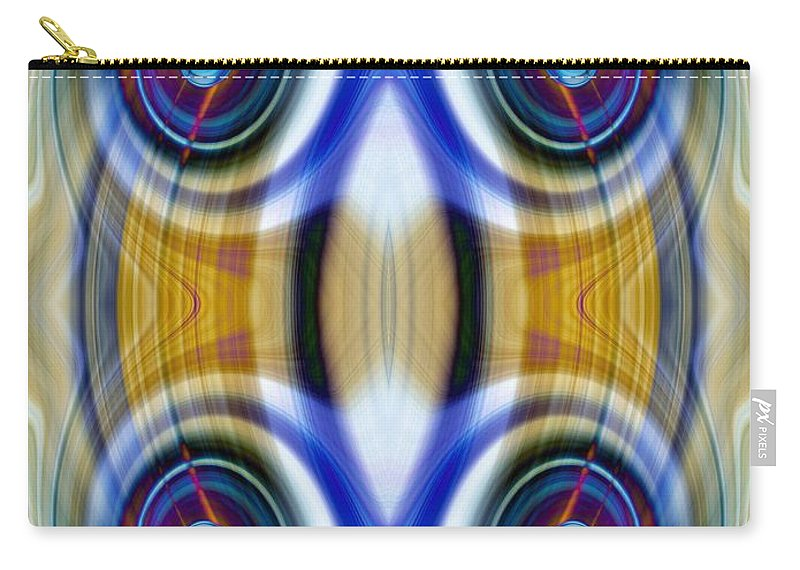 Blue Carry-all Pouch featuring the photograph Abstract 1 by Amber Flowers