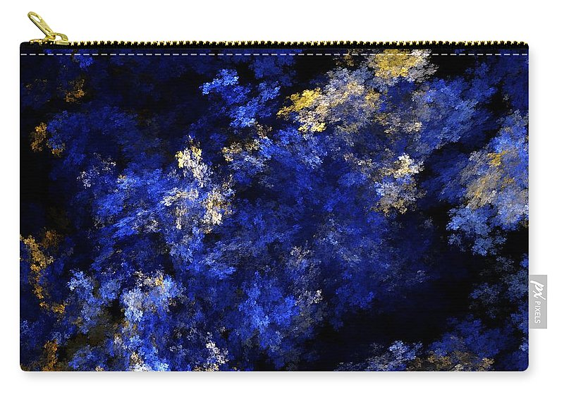 Abstract Digital Painting Carry-all Pouch featuring the digital art Abstract 11-18-09 by David Lane
