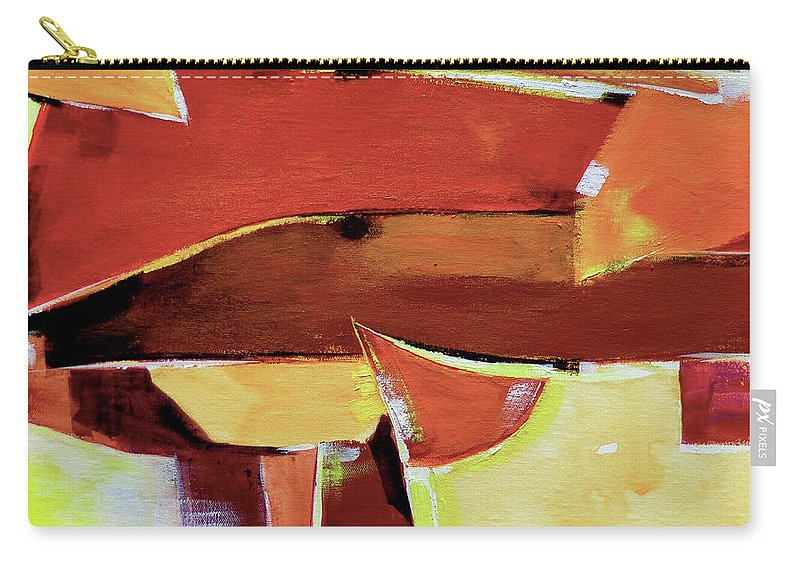 Artdeco Carry-all Pouch featuring the painting Abstract 11 by Anil Nene