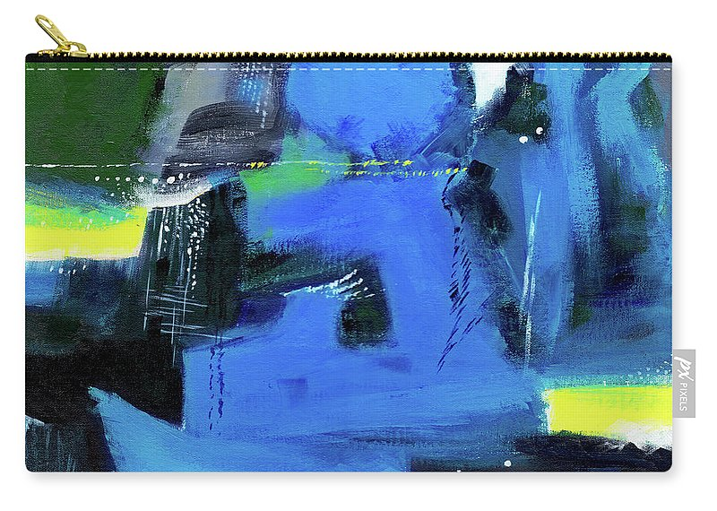 Nature Carry-all Pouch featuring the painting Abstract 12 by Anil Nene