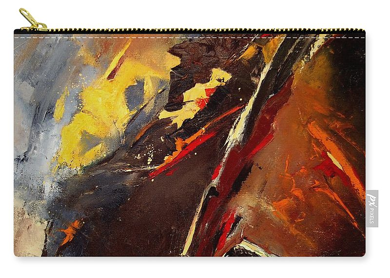 Abstract Carry-all Pouch featuring the painting Abstract 12 by Pol Ledent