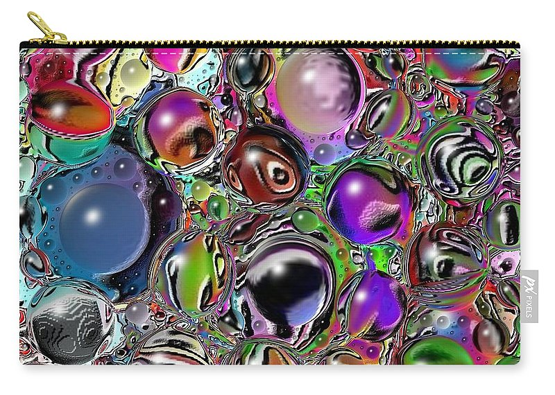 Digital Art Carry-all Pouch featuring the digital art Abstract 62316.5 by Belinda Cox