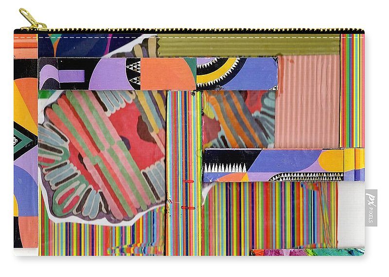 Abstract Art Carry-all Pouch featuring the drawing Abstract Collage by Paul Meinerth