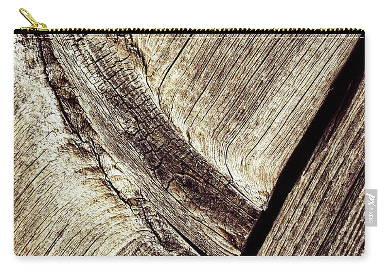 Old Carry-all Pouch featuring the photograph Abstract Detail Of A Wooden Old Board by Jozef Jankola
