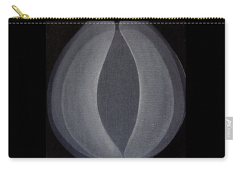 Abstract Carry-all Pouch featuring the painting Abstract flower by Jitka Anlaufova